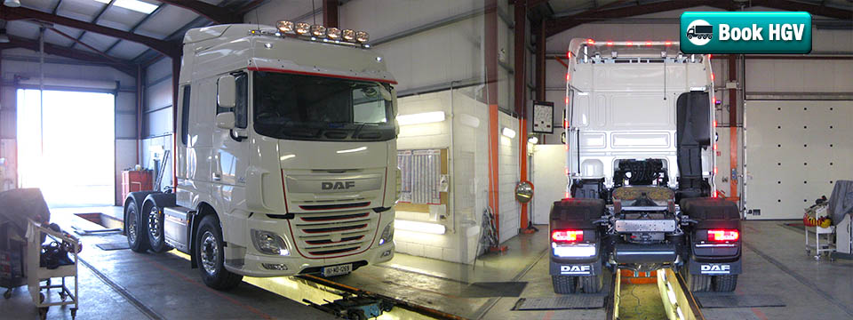 Book Your HGV test in our approved vehicle testing centre